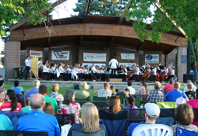 Symphony in the Park in Sidney, Montana
